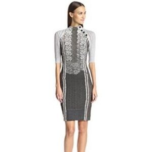 Byron Lars Beauty Mark Cabled Lace Dress 00P